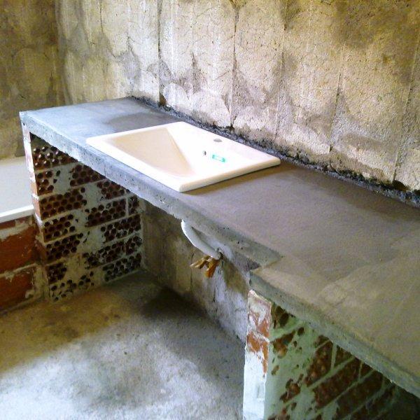 Construcciones y reformas for Bajo lavabo de obra