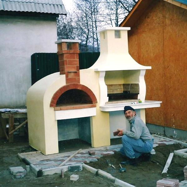 Barbacoas de obra con horno good barbacoa de obra boca - Barbacoa con horno ...